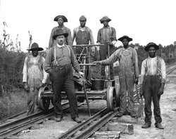 Gainesville Midland track maintenance crew, CA. `1890 