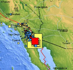 USGS map shows the location of the 5.5 magnitude earthquake that rattled Baja California on Thursday, April 8 at 9:44 a.m.