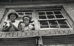 In 1964, Freedom Schools are created throughout Mississippi as Freedom Summer volunteers, most of them northern college students, travel south to work with local civil rights workers to help educate black children and organize black voters.