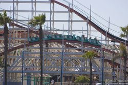 The Giant Dipper roller coaster is the most popular ride at Belmont Park in Mission Beach. The boardwalk amusement park has seen an increase in visitors and revenue during the recession.