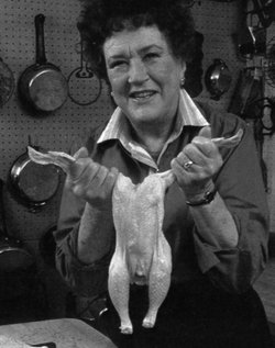 Celebrated chef Julia Child