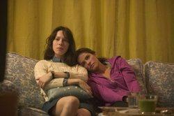 "Amanda Peet as Mary and Rebecca Hall as Rebecca,  in ""Please Give""."