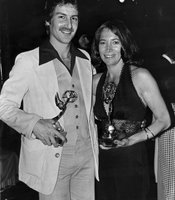 Gloria Penner with colleague at the 1974 local Emmys.