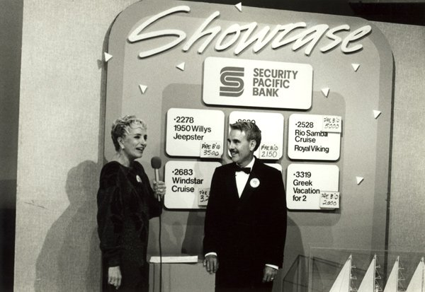 "Gloria Penner during live auction ""Showcase"" in 1987."