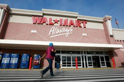 A Wal-Mart customer enters a store January 8, 2009 in Oakland, California. 