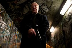 "Michael Caine as the vigilante ""Harry Brown."""