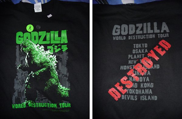 The Big G World Destruction Tour tee.