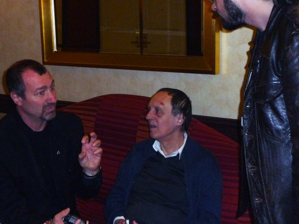 Dario Argento holding court with fans at the Weekend of Horrors.