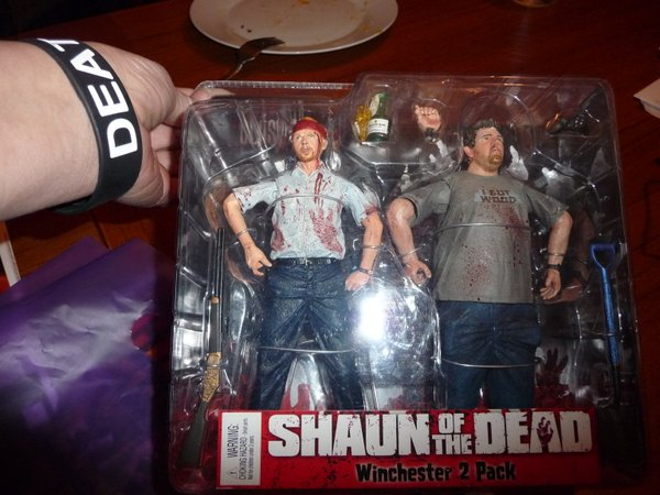 My prized Shaun and Ed action figures!