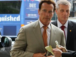 California Gov. Arnold Schwarzenegger arrives at the Landmark E Street Cinemas for a screening of Gerrymandering.