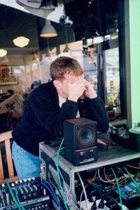 John Decker on remote broadcast during 5 hour Car Talk marathon, 1998.