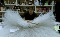 A costumer in the workroom of the Paris Opera Ballet.