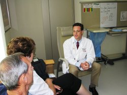 Dr. Brent Drouin is a hospitalist at San Diegos Sharp Memorial Hospital. In addition to managing patients care while theyre hospitalize, he makes sure to take time to talk things over with patients family members. 
