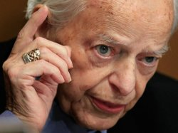 Sen. Robert Byrd (D-WV) asks a question at a Senate hearing in May. Byrd, 92, the longest-serving senator in U.S. history, died Monday.