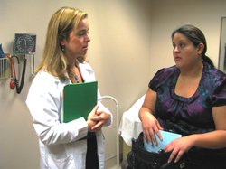 Cecelia Fryckman talks about her pregnancy with her OBGYN, Dr. Jessica Kingston. Fryckman says she's trying to eat right and not gain too much weight.
