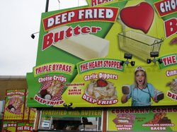 One of the biggest hits at this years San Diego County Fair was deep-fried butter, topped with sugar and whipped cream.