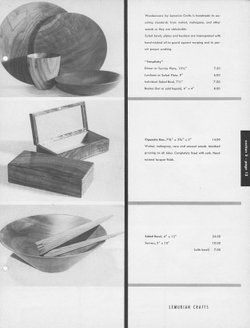 Furniture Forum listing for Lemurian Crafts, Fall 1949 - courtesy  S. Aldana