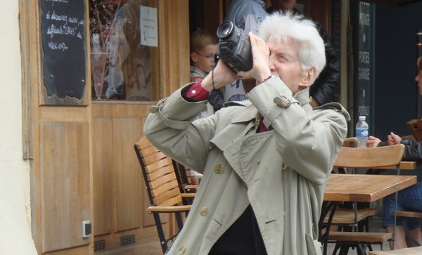 Man with a camera... the spry and sly Monsieur Resnais.