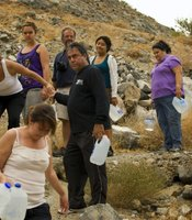 Border Angels drop bottles of water in the desert and near the fence where migrants pass. One of the main causes of migrant deaths is dehydration.
