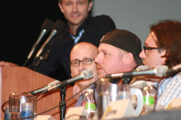 "Simon Pegg at the ""Paul"" panel."