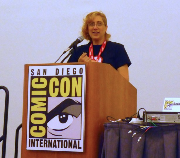 Me moderating my first Comic-Con panel!