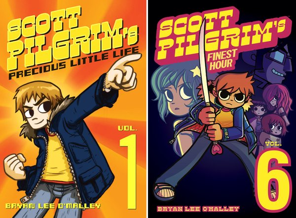 """Scott Pilgrim"" comics."