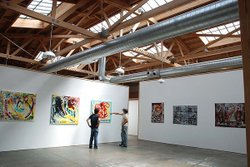 The airy interior of Space 4 Art, a new commune for local artists.