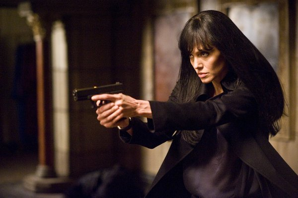 "Angelina Jolie in action in ""Salt"""