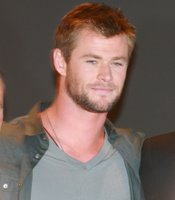 Chris Hemsworth joins the Marvel team as Thor in Hall H. (Photo by: Tony Weidinger)