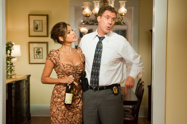 "Eva Mendes and Will Ferrell make an unlikely couple in ""The Other Guys."""