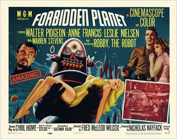 "Advertising art for ""Forbidden Planet"""