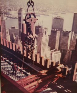 Word Trade Tower under construction in Manhattan around 1970.