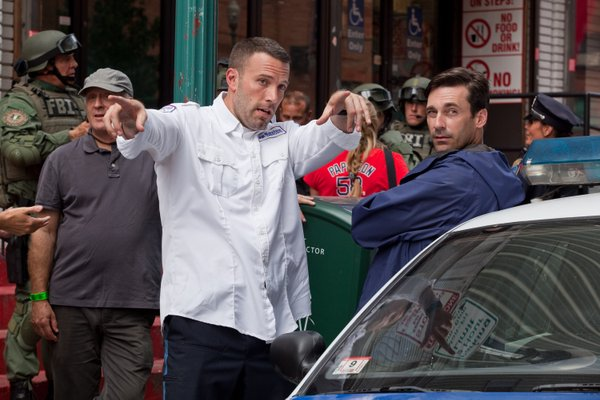 "Ben Affleck directing Jon Hamm in ""The Town"""