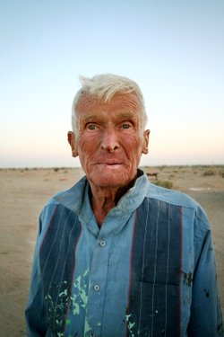 Leonard Knight, outsider artist who spent years building Salvation Mountain out of adobe, straw and paint.
