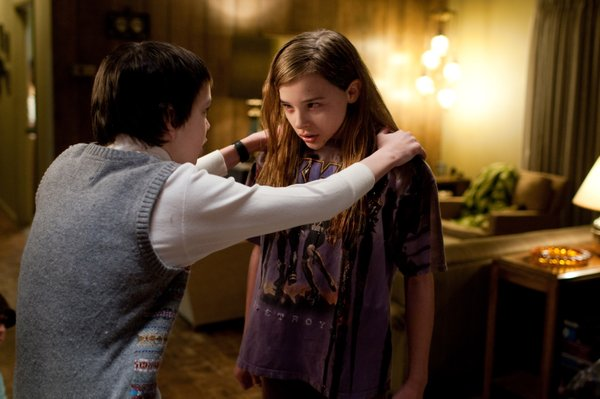 "Kodi Smit-McPhee and Chloe Grace Moretz in ""Let Me In."""