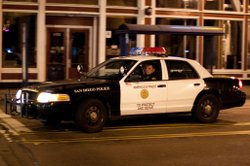 A San Diego police car out on patrol. 
