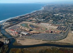 Aerial view of the Del Mar Fairgrounds
