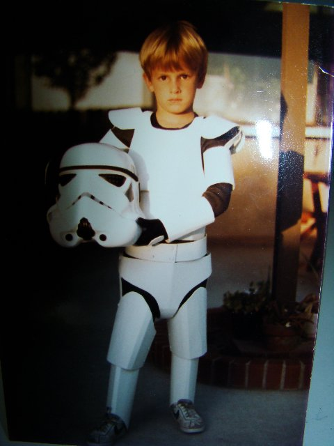 Andy Trimlett as boy stormtrooper. How cute is this?