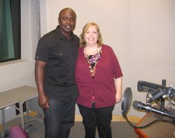 These Days host Maureen Cavanaugh and Aztec Great Marshall Faulk