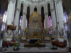 The alter in Amiens Cathedral, the tallest Gothic church and largest cathedral in France. 