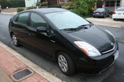 The Prius leaves a smaller carbon footprint than a conventional car even though it requires more energy to manufacture. 