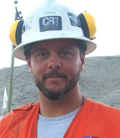 Brandon Fisher, owner of Center Rock Inc., San Jos Mine, Copiapo, Chile. 