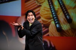 "Greg Watanabe as the character DHH in the play ""Yellow Face"" produced by the Mo'olelo Performing Arts Company."