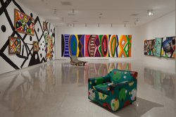 Installation view of Farris Gallery, in the exhibition &quot;Collection Applied Design: A Kim MacConnel Retrospective,&quot; Museum of Contemporary Art San Diego.