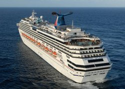 Carnival Splendor, carrying nearly 4,500 passengers and crew, sits stranded off the coast of Mexico, November 9, 2010.