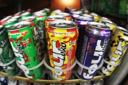 Cans of Four Loko are seen in the liquor department of a Kwik Stop store on October 27, 2010 in Miami, Florida.