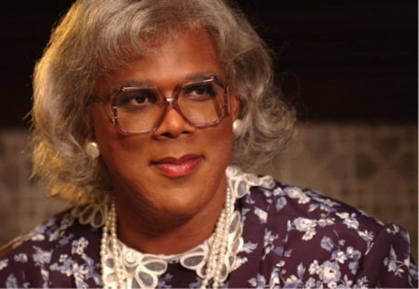 "Tyler Perry as the hilarious Aunt Madea in ""Diary of a Mad Black Woman."""