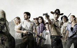 "The cast of AMC's new hit show ""The Walking Dead."" Season one wraps up this Sunday night and AMC has renewed the show for another season."