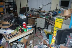 Bomb making materials pack a room inside a house in Escondido in November 2010.