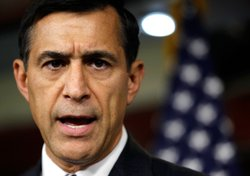 U.S. Rep. Darrell Issa (R-CA) speaks to the media during a news conference May 28, 2010 on Capitol Hill in Washington, DC.